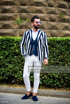 Melik Kan is seen during Pitti Immagine Uomo 92. at Fortezza Da Basso on June 14, 2017 in Florence, Italy.