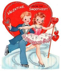 Skating Vintage Valentine * 1500 free paper dolls at Arielle Gabriel's The International Paper Doll Society and The China Adventures of Arielle Gabriel for Chinese and Japanese paper dolls free * Valentine Images, My Funny Valentine, Vintage Valentine Cards, Vintage Holiday, Happy Valentines Day, Holiday Fun, Valentines Day Greetings, Valentine Day Crafts, Valentine Decorations