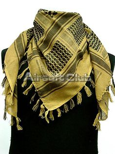 US Army Arab SAS Shemagh Kafiya Scarf Mask Coyote Brown