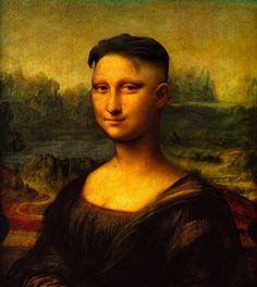 Classical Art Memes, Famous Pictures, Funny Pictures, Le Sourire De Mona Lisa, Mona Lisa Images, Mona Friends, La Madone, Mona Lisa Parody, Mona Lisa Smile