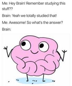 hey brain what's the answer?  ★·.·´¯`·.·★ follow @motivation2study for daily inspiration