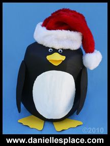 Penguin Milk Jug craft for kids