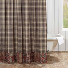 Dawson Star Brown Patchwork Shower Curtain