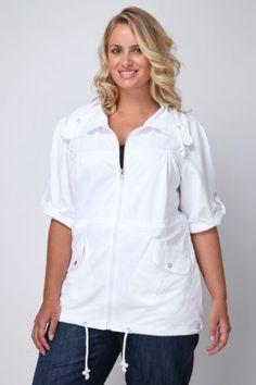 Fashion Bug Womens Plus Size Cotton Turn Back Sleeve Sweat #Jacket