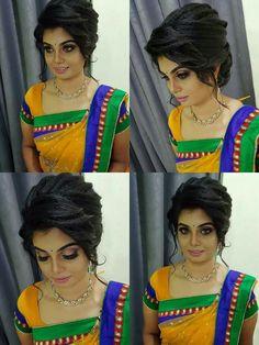 Hairstyle Look, Saree Wedding, Hair Looks, Indian Beauty, Wedding Hairstyles, Crochet Necklace, Hair Beauty, Sari, Bride