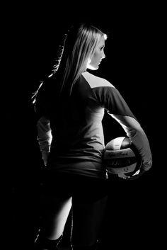 Senior volleyball photography