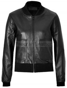 Omnipotent Leather Bomber Jacket For Women