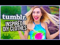 Quick and Easy Summer DIY Clothes Inspired by Tumblr Photos! - MyLifeAsEva - I have to try the dress!