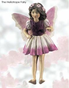 Cicely Mary Barker Heliotrope Flower Garden Fairy Ornament Figurine | eBay