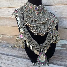 Tribal Belly Dance Jewel and Metal Fringe Belt ...layers layers layers that's what it's all about