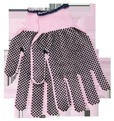 Pink Dotted Cotton/Polyester Glove for Breast Cancer Awareness