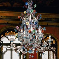 Three Tier Murano Fruit Chandelier