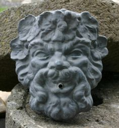 Dionysus Lead Mask - New England Garden Ornaments Garden Ornaments For Sale, Garden Sculpture, Lion Sculpture, Bacchus, Dionysus, World Cultures, New England, Wall Fountains, Outdoor Decor