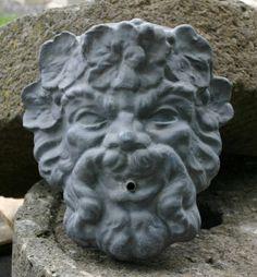 Dionysus Lead Mask - New England Garden Ornaments
