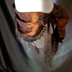 Love this bustle!! Copper Brown Front Drape Burlesque Bustle with by BottomsUpBustles, $95.00