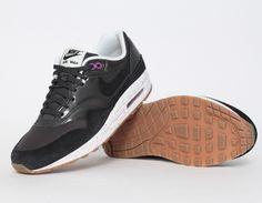 online store c9907 c1dc8 Nike AirMax 1 Black Purple Sneakers Nike Heels, Nike Wedges, Most
