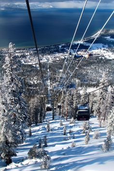 Heavenly Ski resort in Lake Tahoe, California...on my bucket list for our USA road trip!