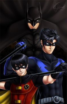 "inbludhaven: "" Dick Grayson - from boy to man by ~GarnetQuyenDinh """