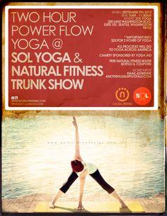 Yoga Time Intro To Vinyasa Yoga Flyer PdfJpg  Yoga Art