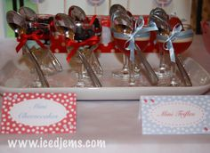 Cute  napkins Red & Blue Baby Shower and Free Printables!