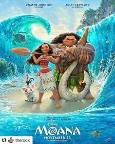#Repost @therock ・・・ EXCLUSIVE: Here's your very first look at the official poster for #MOANA! Today also kicks off something special that we're calling #MOANAMondays -- From now until our Thanksgiving weekend release, myself, the cast and Disney will be serving up amazingly cool looks at the film, taking you deeper into how it was made, and what you can expect from our story and characters. And most importantly, THE MUSIC. Stay tuned because I have even MORE coming your way this week…