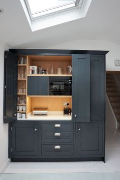 41 Catchy Kitchen Pantry Design Ideas One of the hallmarks of g. 41 Catchy Kitchen Pantry Design Ideas One of the hallmarks of good housekeeping is having an organized pantry. This particular art and science is centered mainly […] Kitchen Pantry Design, Kitchen Pantry Cabinets, Interior Design Kitchen, Kitchen Storage, New Kitchen Designs, Oak Cabinets, Cupboards, Living Room Kitchen, Home Decor Kitchen