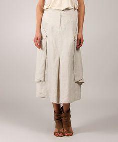 a4bb6148cd7 Eva Tralala Sand Drape Linen Midi Skirt by. Scoop Neck DressDress ...