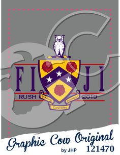 Rush Fiji crest design #rush #recruitment #grafcow