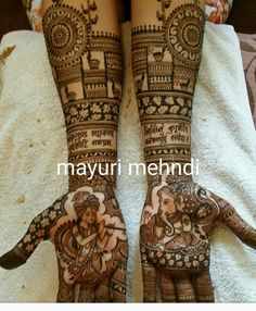One of the most beautiful henna designs Dulhan Mehndi Designs, Mehndi Designs Feet, Wedding Mehndi Designs, Unique Mehndi Designs, Beautiful Henna Designs, Latest Mehndi Designs, Mehendi, Et Tattoo, Mehndi Tattoo