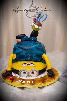 Minions cake by Minion Cakes, Minions, Cakes And More, Cake Ideas, Cake Decorating, Globe Decor, Decorations, The Minions, Minions Love
