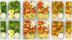 This quick and easy vegetarian meal prep is loaded with fiber and nutrients but tastes absolutely delicious! Vegetarian Meal Prep, Vegetarian Recipes Easy, Healthy Meal Prep, Healthy Breakfast Recipes, Veggie Recipes, Healthy Cooking, Cooking Recipes, Healthy Recipes, Quick Recipes
