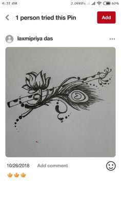 Krishna Tattoo, Krishna Drawing, Krishna Painting, Krishna Art, Hare Krishna, New Mehndi Designs, Rangoli Designs, Tattoo Designs, Feather Painting