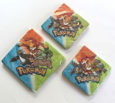 3 Packs of 16 Pokemon Diamond And Pearl 2-Ply Luncheon & Beverage Party Napkins #Designware #Party