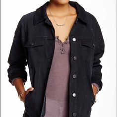 Free people navy denim jacket Brand new never before worn jacket by free people, designed to fit a little big, sound fit a small according to that style or would fit a mid a bit tighter Free People Jackets & Coats Jean Jackets