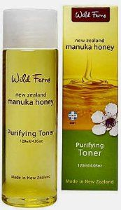 Wild Ferns Manuka Honey Purifying Toner by Parrs. $14.60. With Pure New Zealand Manuka Honey. Wild Ferns Manuka Honey Toner 120ml/4.05oz bottle. Containing the beneficial qualities of Pure Manuka Honey blended with Aloe Vera and Witch Hazel, this purifying toner thoroughly removes make-up residue and prepares the skin to maximise the benefits of your moisturiser.  Moisture retaining Manuka Honey helps eliminate impurities and improves the appearance of blemished skin. L...