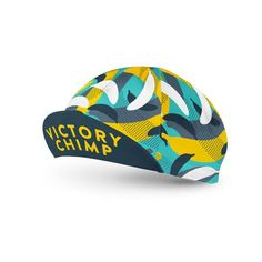 A classic five-panel cotton cycling cap,covered in bananas. Designed in Northern Ireland, made in Italy. The iconic cycling cap, stylish and practical. Keeps the sun, rain and sweat out of your eyes while looking good on the road. You can never have enough caps. - 65% polyester, 35% cotton, windproof & breathable. - One size fits most. Elasticated rear panel.