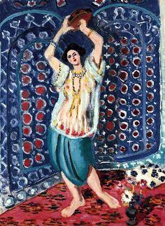 Odalisque au tambourin-Harmonie en bleu, 1926 Henri Matisse