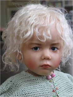 These range of dolls are the creations of  a teacher who stopped teaching to make these dolls. Her name is Sissel Skille and she uses real children or photos of children to make these gorgeous dolls.