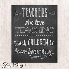 Teacher Appreciation gift Teacher quote Teacher by glorydesigns