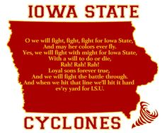 #You! Iowa State Cyclones Football Fight Song Art Print 8x10 Gift Home Decor. $14.00, via Etsy.