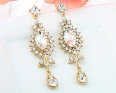 Bridal Earrings Wedding Earrings Wedding by goddessdesignsgems, $40.00