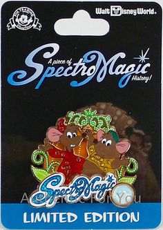 SpectroMagic Parade Piece Disney History Gus Jaq Cinderella Trading Pin LE 1000