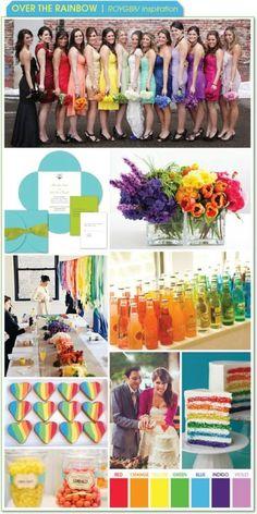 Rainbow wedding theme Inspiration needed please, Kept Elegant « Weddingbee Boards