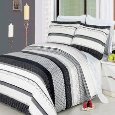 LUXURIOUS Meadow 3 Piece (3PC) Queen Size Comforter Cover (DUVET COVER) Set, 300 Thread Count Ultra Soft Single Ply 100% Egyptian Cotton. Egyptian Cotton Factory Outlet Store http://www.amazon.ca/dp/B00EJJ2DF8/ref=cm_sw_r_pi_dp_tyidvb0V911EH