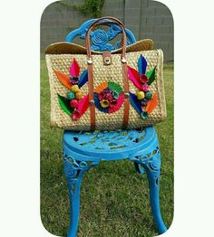 Vintage Straw Purse Mexico Rolled Flowers Market Tote Travel Bag Book Bag   | Clothing, Shoes & Accessories, Unisex Clothing, Shoes & Accs, Unisex Accessories | eBay!