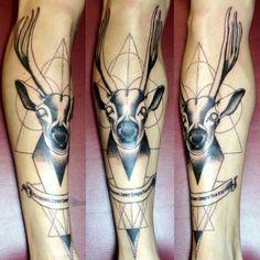 My first tattoo #tattoo #geometric #dotwork #deer # minimalist #animal