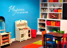 Vinyl wall decal Playroom Toys Gather Here. $32.00, via Etsy.