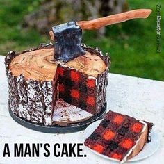 This is my kinda cake.  #survival #survivallife #survivalist #prepper #prepper #axe #tree #survive #outdoorsman #cake #instagood #bushcraft #bushcrafter #urbansurvival