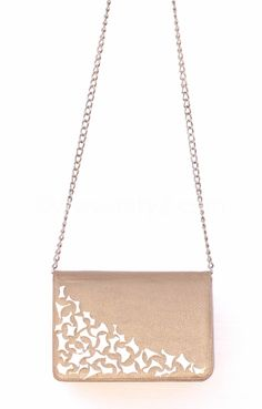 TATYZ clutch with mother-in-pearl embellishment
