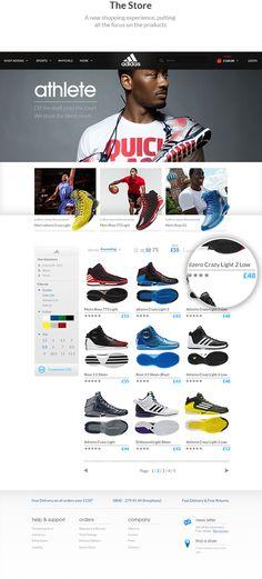 Adidas #Website Concept by Jonathan Kelley, via #Behance
